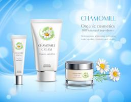 Affiche de publicité réaliste de produits de cosmétiques