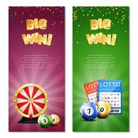 Bannières verticales de loterie bingo vecteur