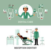 Bannières de bureau de dentiste