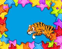 Carte de fête avec tigre