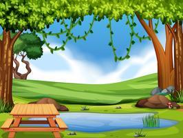 Une vue sur le parc naturel vecteur