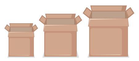 Ensemble de boîte en carton vecteur