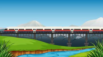 Un rail au paysage rural