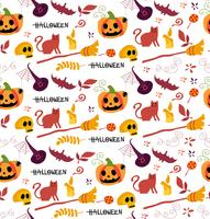 joli motif Halloween sans soudure pour le fond