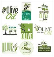 Collection de fonds vintage rétro à l'huile d'olive vecteur
