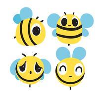 abeille caractère vectoriel