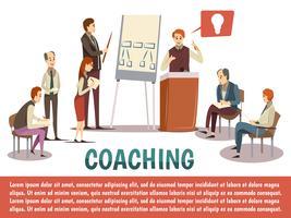 Fond de coaching d'affaires vecteur