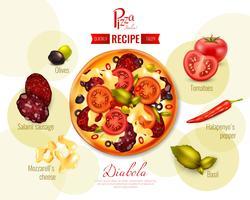 Illustration de recette de Pizza Diabola