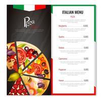 Conception de menus de pizzas italiennes