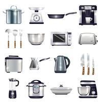 Set d'accessoires de cuisine vecteur