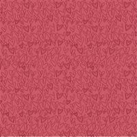 motif coeur dessiné à la main sans soudure sur fond rouge vecteur