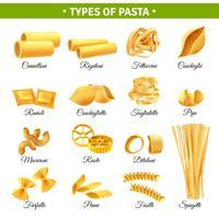 Types de pâtes infographiques