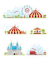 Ensemble de bannière de parc d'attractions