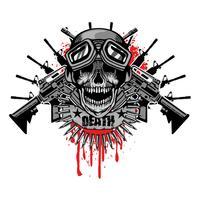 emblème agressif avec crâne vecteur