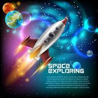 Illustration de l'exploration spatiale vecteur