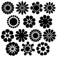 formes de fleurs vectorielles simples vecteur