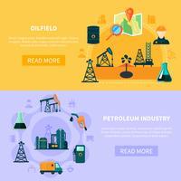 Collection de bannières de champs de pétrole
