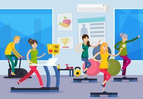 Fitness formation personnes orthogonales composition vecteur