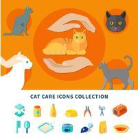 Icônes de soins pour animaux vecteur