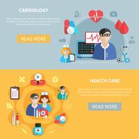 Bannières horizontales de soins de santé