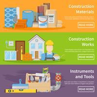 Bannières Matériaux de Construction vecteur