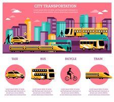 Disposition d'infographie de transport de ville
