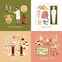 Illustration de concept d'archéologie vecteur