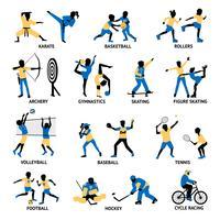 Ensemble de silhouettes de sportifs