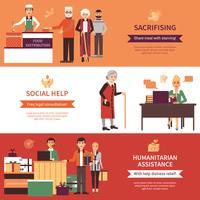 Bannières de bénévoles