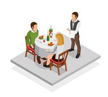 Concept de repas au restaurant vecteur