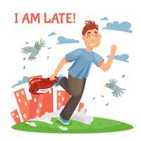Adolescent en retard à l'école