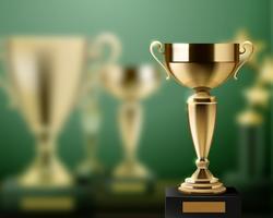 Trophée Récompenses Contexte Réaliste vecteur