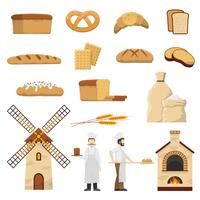 Set de boulangerie vecteur