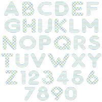alphabet bleu vert