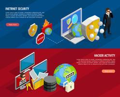 Ensemble de bannières horizontales pour la protection des données