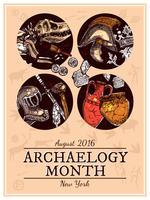 Illustration d'archéologie de croquis dessinés à la main