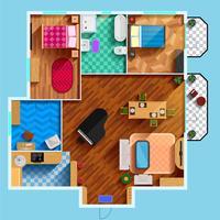 Plan d'étage architectural