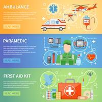 Bannières horizontales paramédicales