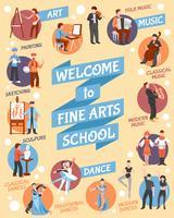 Affiche de l'école des beaux-arts vecteur