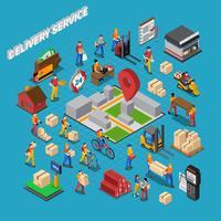 Composition du concept de service de livraison vecteur