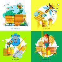 Concept d'apiculture coloré vecteur
