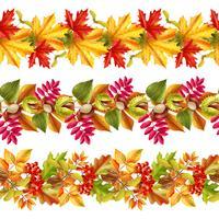 Feuilles d'automne frontière sans soudure vecteur
