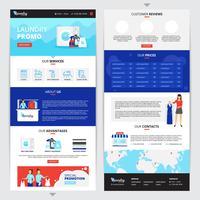 Ensemble de pages Web pour le service de blanchisserie