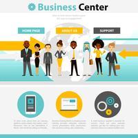 Infographie de page Web de formation commerciale