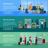 Bannières plates Airport People