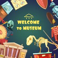 Invitation à l'illustration du musée vecteur