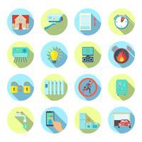 Smart House Round Icons Set vecteur