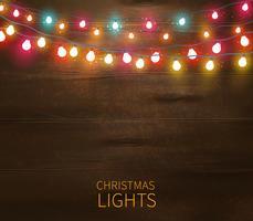 Affiche de lumières de Noël