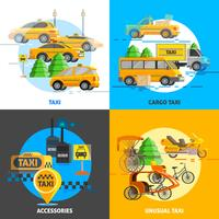Concept de service de taxi vecteur