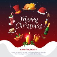 Carte de fête de Noël vecteur